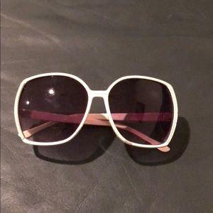 Vintage White Jackie O Sunglasses
